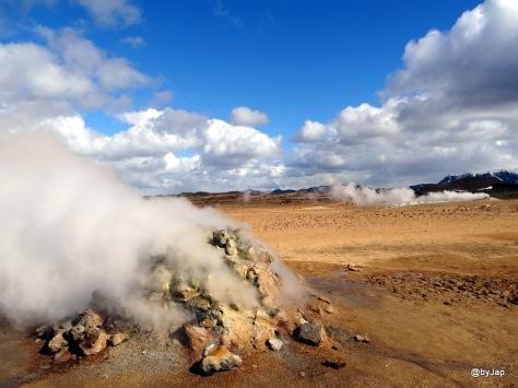 Fumerolles, près de Myvatn - Islande